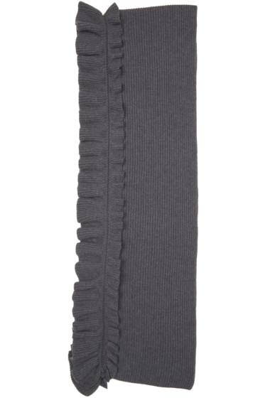 Stella McCartney - Grey Wool Ruffle Scarf