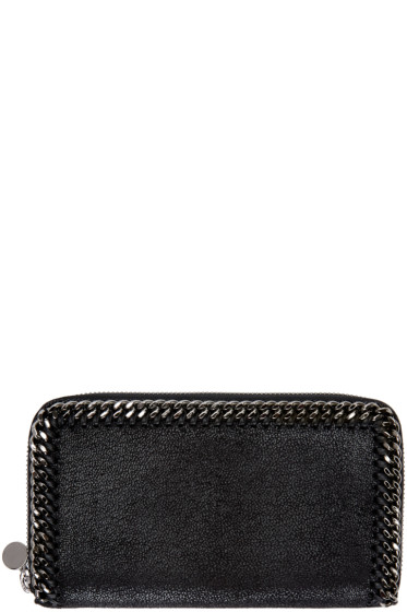 Stella McCartney - Black Falabella Shaggy Deer Zip Wallet