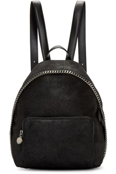 Stella McCartney - Black Falabella Shaggy Deer Small Backpack