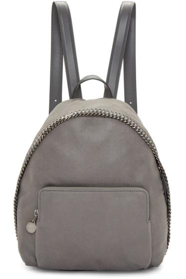 Stella McCartney - Grey Small Falabella Shaggy Deer Backpack