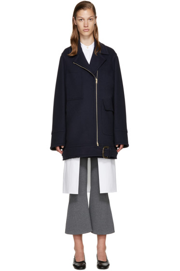 Stella McCartney - Blue Wool Coat
