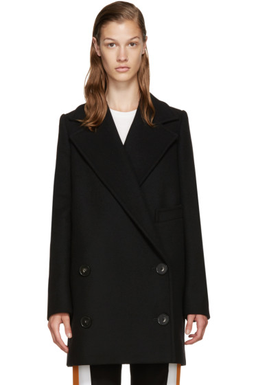 Stella McCartney - Black Wool Double-Breasted Coat