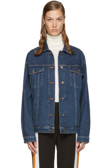 Stella McCartney - Blue Denim Swan Jacket