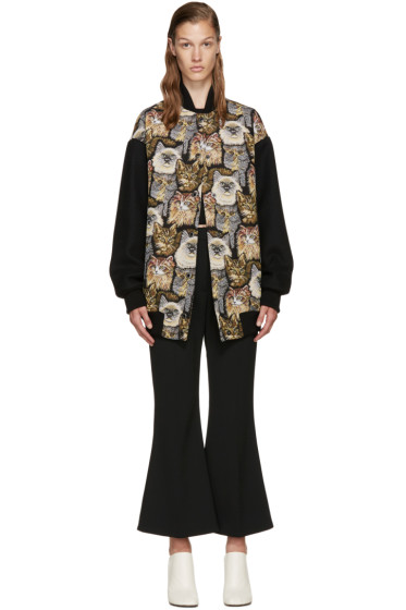 Stella McCartney - Multicolor Jacquard Cat Bomber Jackets