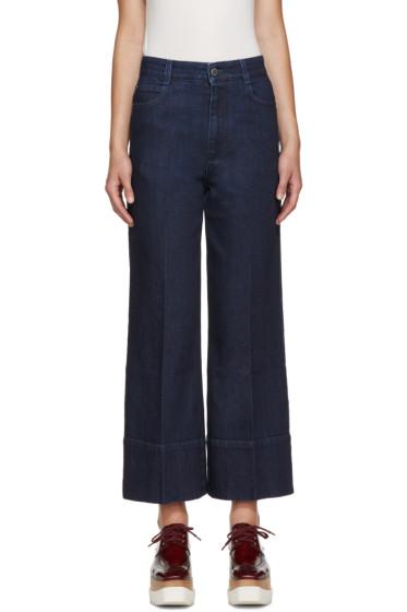 Stella McCartney - Navy Crop Jeans