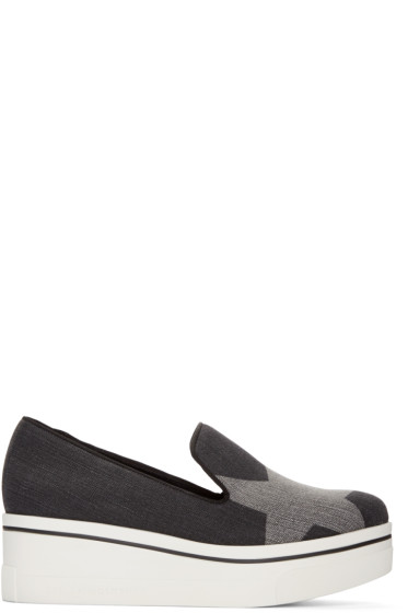 Stella McCartney - Black Denim Binx Loafers