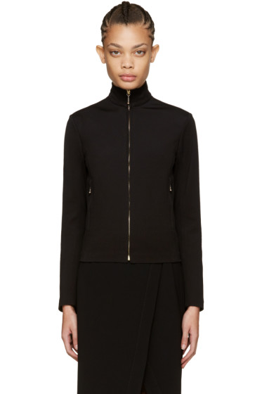 Nina Ricci - Black Zip-Front Sweater