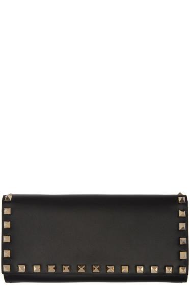Valentino - Black Rockstud Chain Wallet
