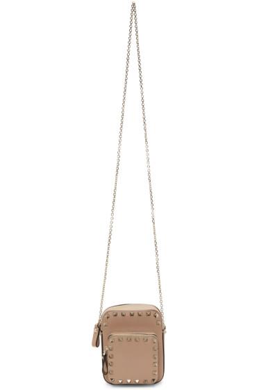Valentino - Pink Double Compartment Rockstud Camera Bag