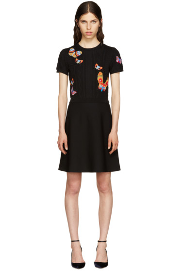 Valentino - Black Butterfly Dress