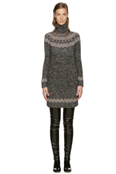 Valentino - Black Knit Alpine Dress