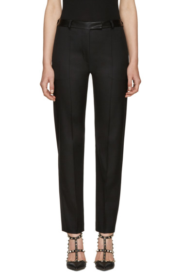 Valentino - Black Slim Wool Trousers