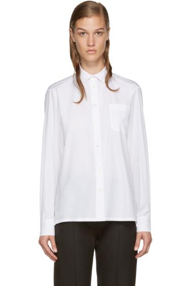 Valentino - White Rockstud Collar Shirt