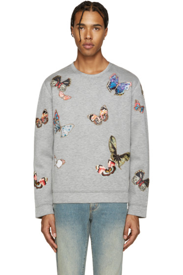 Valentino - Grey Butterfly Pullover