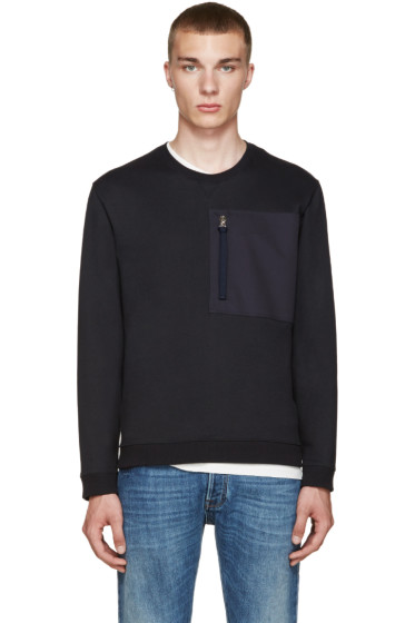 Valentino - Blue Zip Pocket Pullover
