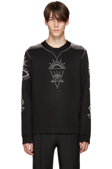 Valentino - Black Beaded Pullover