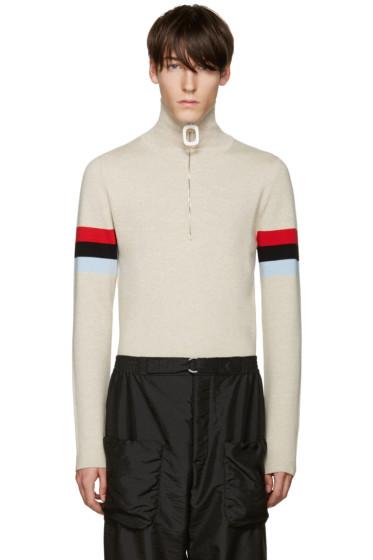 J.W.Anderson - Beige Merino Zip Sweater