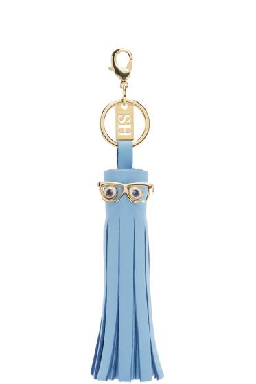 Sophie Hulme - SSENSE Exclusive Blue Tassle Googly Eyes Keychain