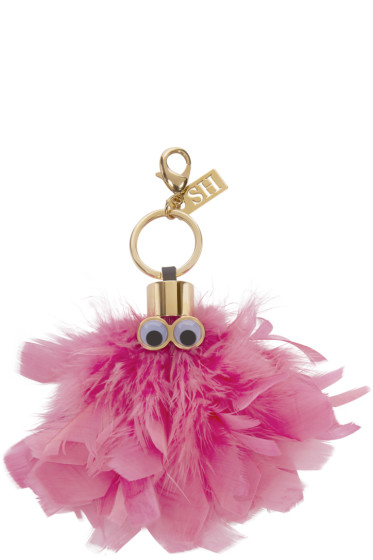 Sophie Hulme - Pink Feather Dolly Keyring