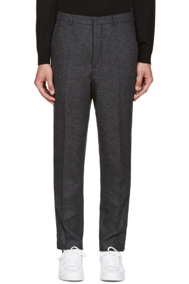 AMI Alexandre Mattiussi - Grey Carrot-Fit Trousers