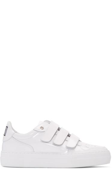 AMI Alexandre Mattiussi - White Patent Velcro Sneakers