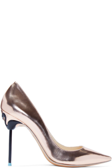 Sophia Webster - Gold Coco Flamingo Heels