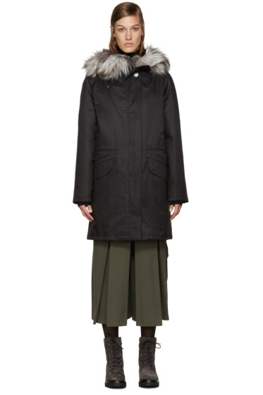 Army by Yves Salomon - Black Fur-Lined Parka