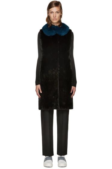 Meteo by Yves Salomon - Black Fur Vest