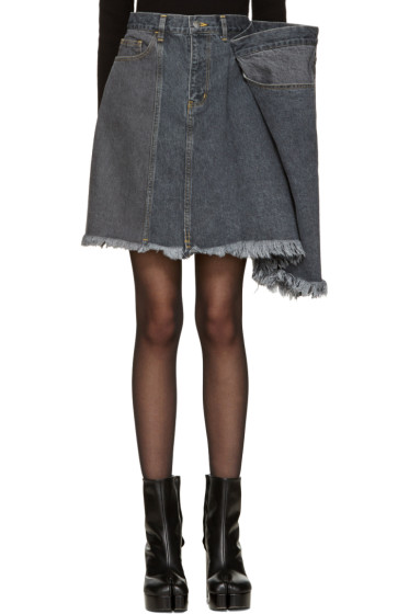 Facetasm - Black Denim Miniskirt