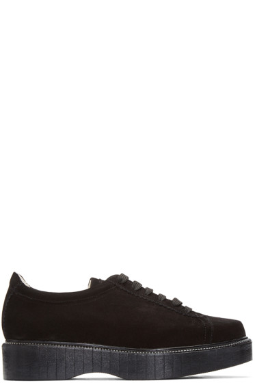 Robert Clergerie - Black Suede Pasket Sneakers