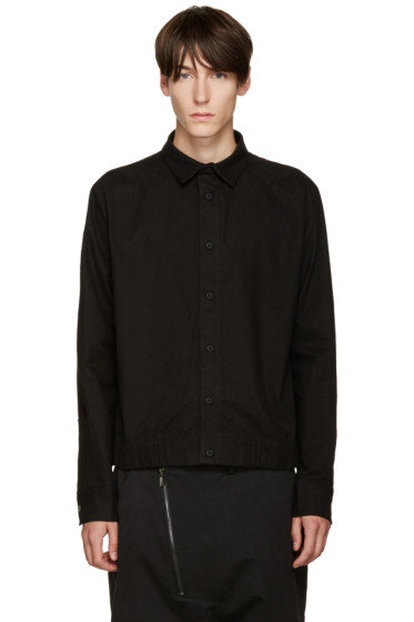 D.Gnak by Kang.D - Black Elasticized Hem Shirt