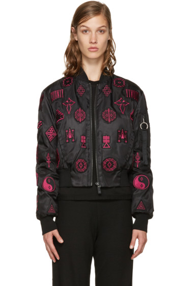 Marcelo Burlon County of Milan - Black Patch Bomber Jacket