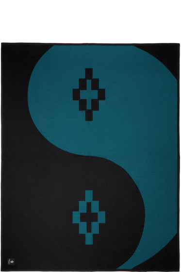 Marcelo Burlon County of Milan - Black & Teal Tao Blanket