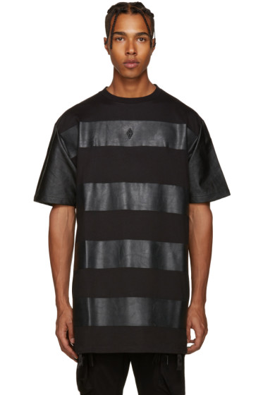 Marcelo Burlon County of Milan - Black Panelled T-Shirt