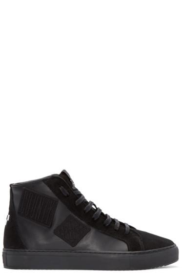 Marcelo Burlon County of Milan - Black Patch High-Top Sneakers