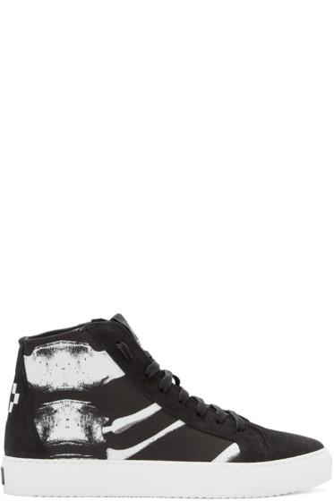 Marcelo Burlon County of Milan - Black Skeleton High-Top Sneakers