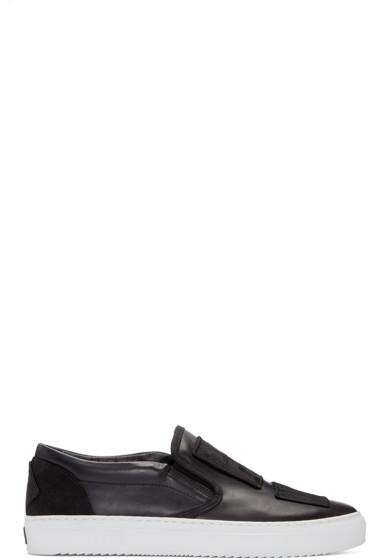 Marcelo Burlon County of Milan - Black Patch Slip-On Sneakers