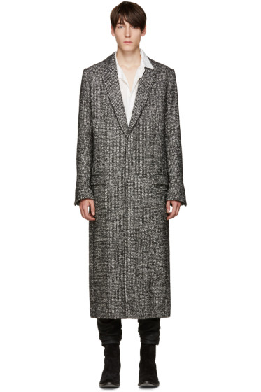 Haider Ackermann - Black Tweed Dupre Coat