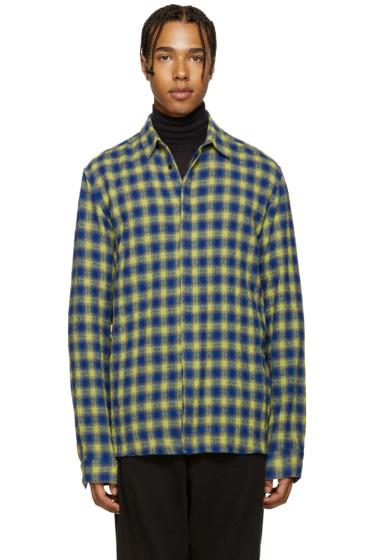 Haider Ackermann - Blue & Yellow Check Shirt