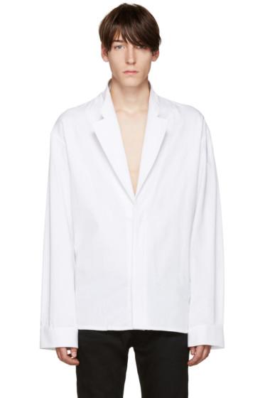 Haider Ackermann - White Wool Depougy Shirt