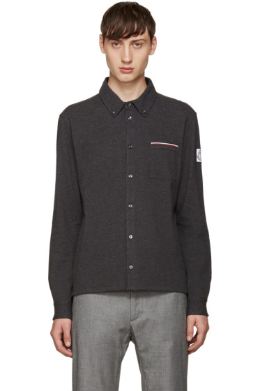 Moncler Gamme Bleu - Grey Knit Pocket Shirt