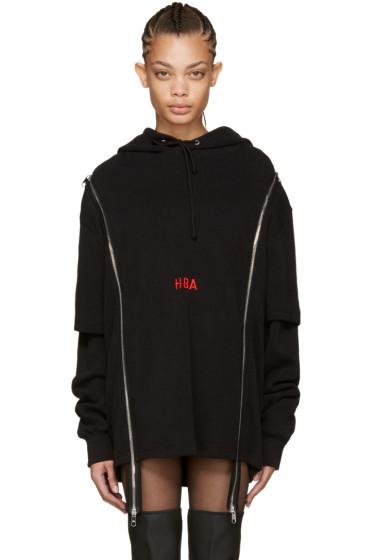 Hood by Air - Black Thermal Double-Zip Hoodie