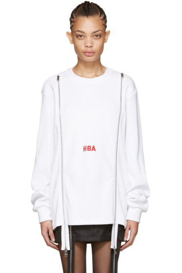 Hood by Air - White Thermal Double-Zip Pullover