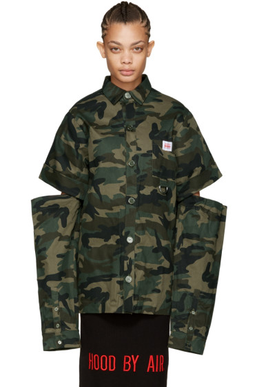 Hood by Air - Green Camo Uniform Fractured Shirt