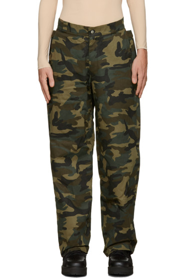 Hood by Air - Green Camo Uniform Sag Trousers