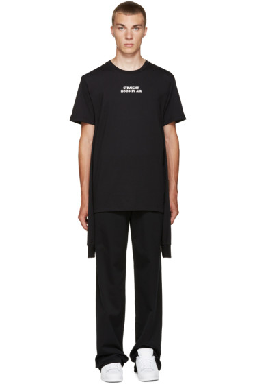 Hood by Air - Black Logo Combo T-Shirt