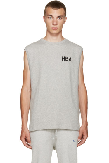 Hood by Air - Grey Logo Tank Top