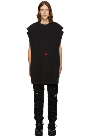 Hood by Air - Black Thermal Poster Tank Top