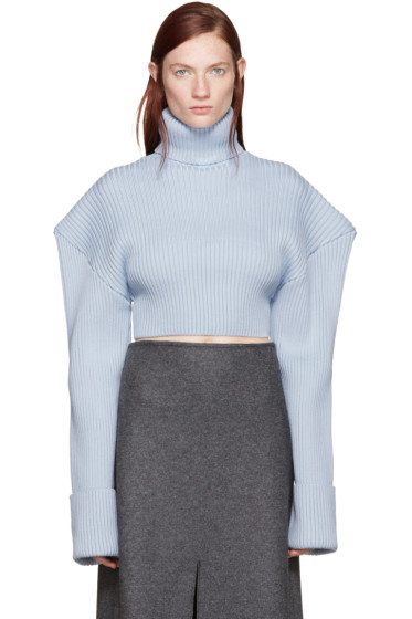 Jacquemus - Blue Giant Shoulder Turtleneck