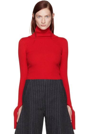 Jacquemus - Red Ribbed Turtleneck